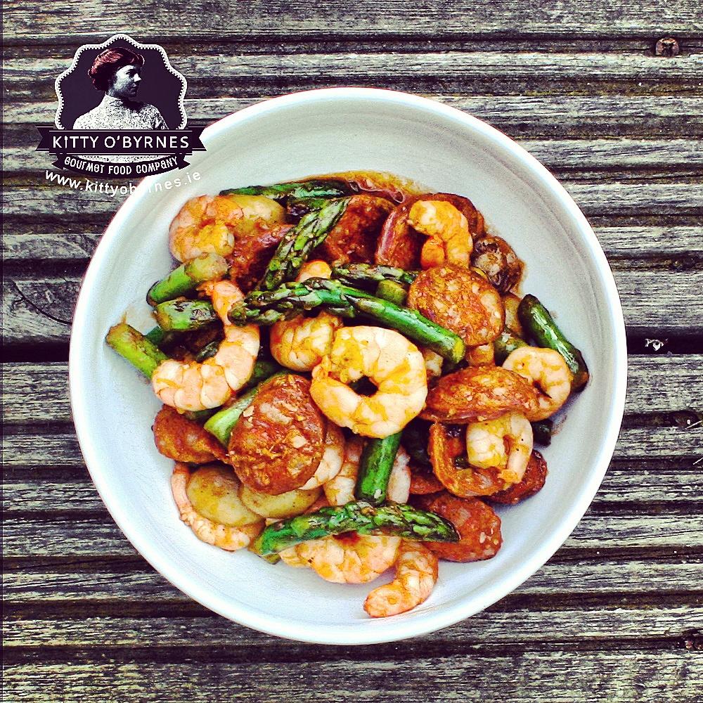 kittyobyrnes-turf-shrimp & chorizo